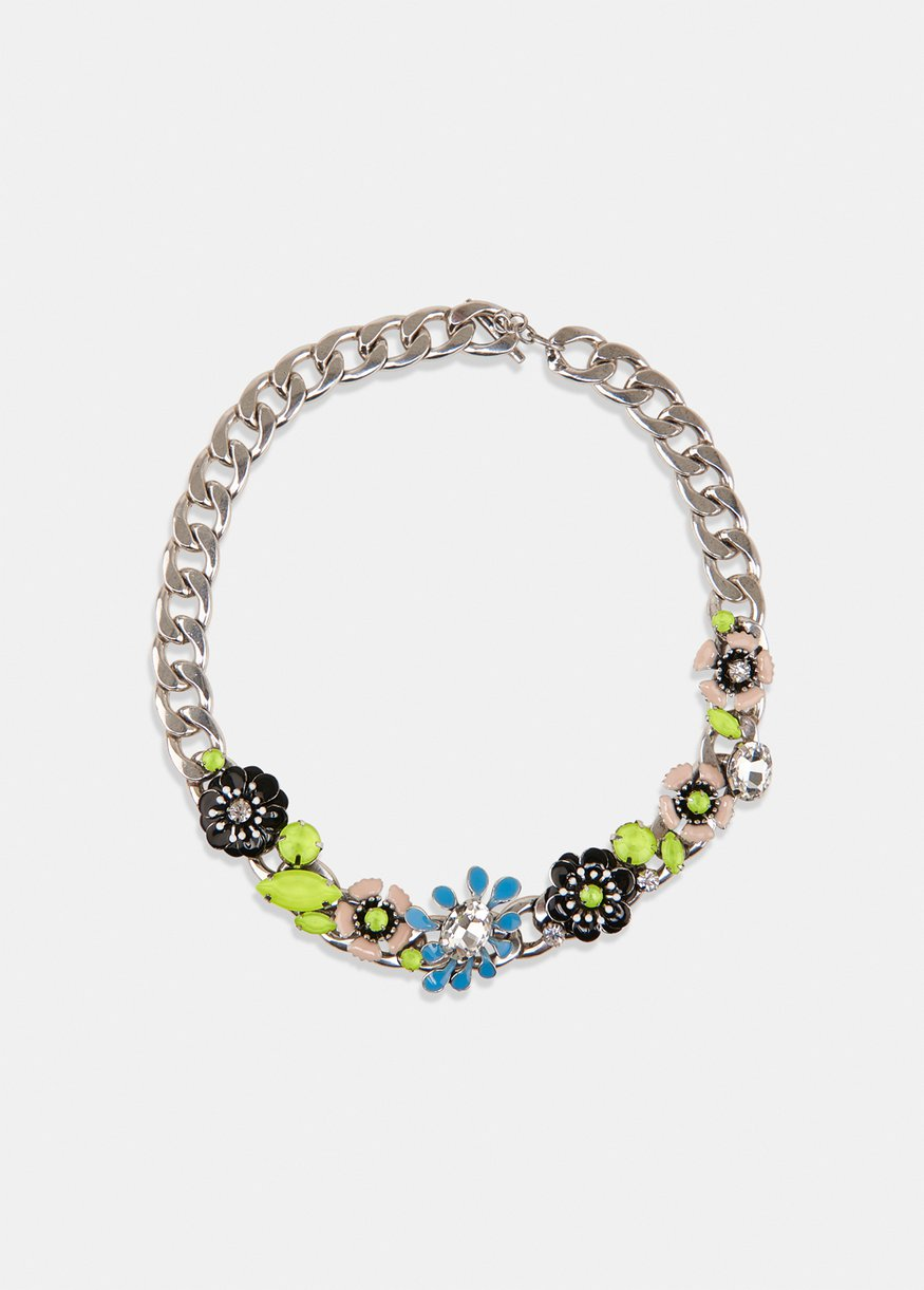 VREALLY FLOWER NECKLACE combo1 black